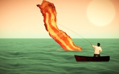 bacon and the sea