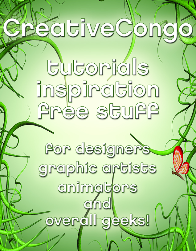 CreativeCongo - tutorials, inspiration, free stuff for designers, animators, motion graphics artists, and geeks