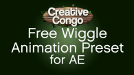 Free Wiggle Animation Preset for After Effects